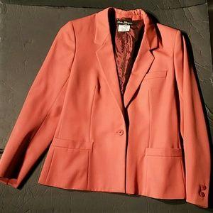 Salvatore Ferragamo Orange Wool Blazer. 44 EU